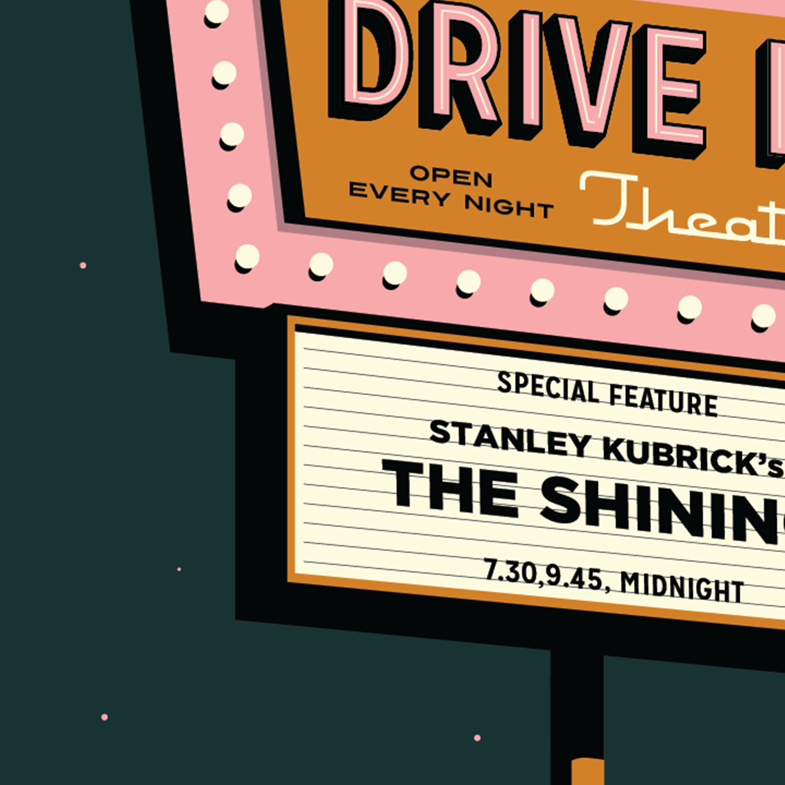Drive In Personalised Print - Night