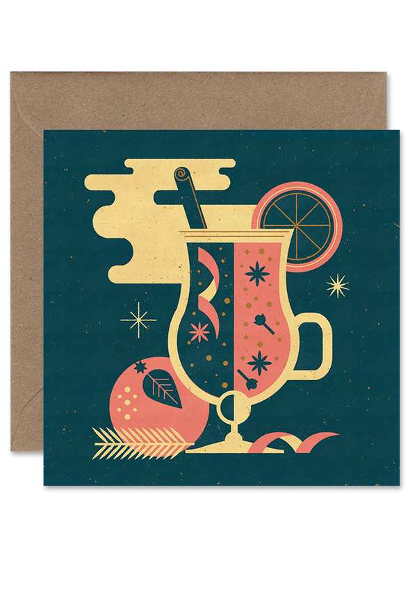 Mulled Wine Christmas Card