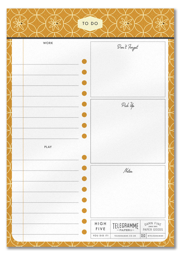 TO DO LIST A5 NOTEPAD