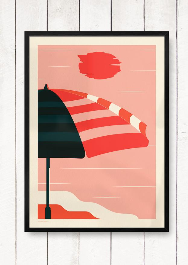 Endless Summer - Umbrella Giclée Print