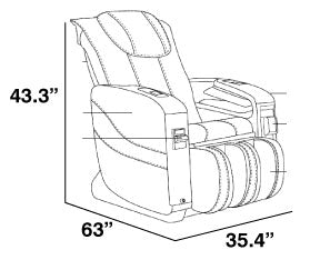 Apex V1 Vending Massage Chair Dimensios