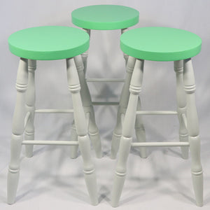 Bar Stools set of 3 in Green