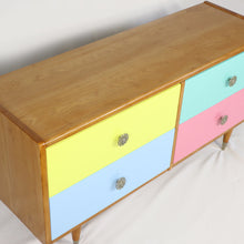 Load image into Gallery viewer, Four Drawer Rimu Lowboy Multi-coloured