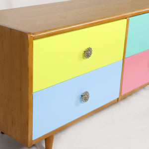 Four Drawer Rimu Lowboy Multi-coloured