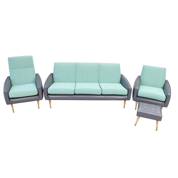 Lounge Suite 5 Seater with Foot Stool