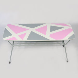 Pink and Grey Coffee Table