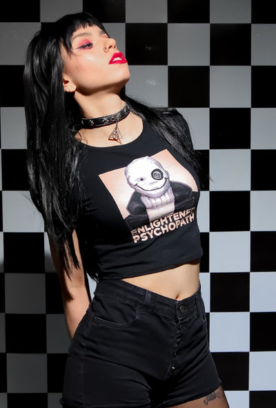 villain with gothic streetwear crop top