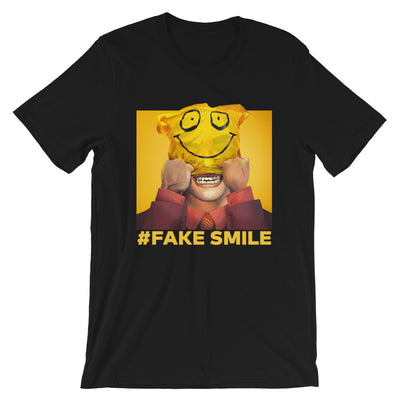 fake smile graphic tee