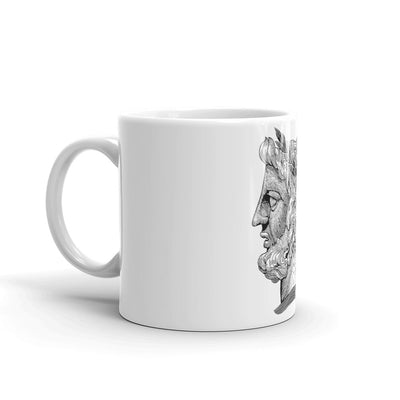 head of janus coffee mug