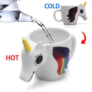 300ML 3D Color Changing Ceramic Mug Temperature Unicorn Cup