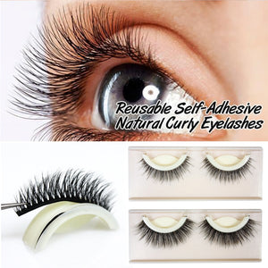 3D Reusable Self-Adhesive Natural Curly Eyelashes