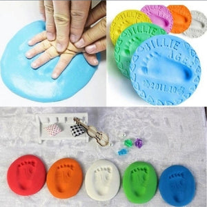 Baby Care Air Drying Soft Clay Baby Handprint Footprint Imprint Kit