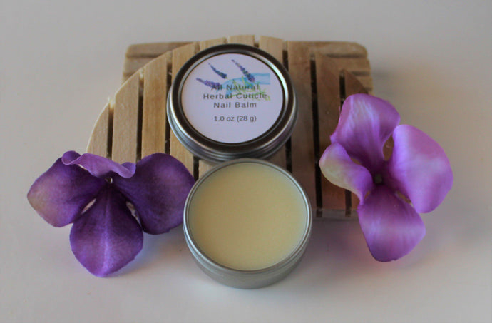 All Natural Herbal Cuticle Nail Balm.balms.luv-n-mountain-soaps.