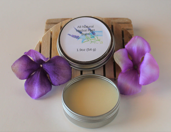 All Natural Herbal Feet Balm.balms.luv-n-mountain-soaps.