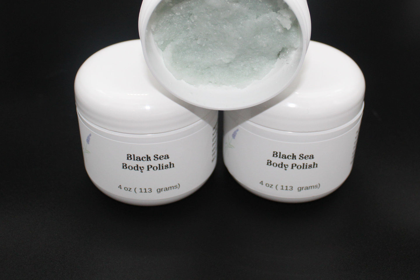 Black Sea Body Polish sugar scrub Luv N Mountain Soaps by Vera