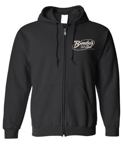 "Bimbo's ""Logo of the 90's"" Black Zippered Hoodie"