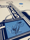 """Dolphina's Blue Moon"" by Jeremy Fish - Limited Edition Screenprint"