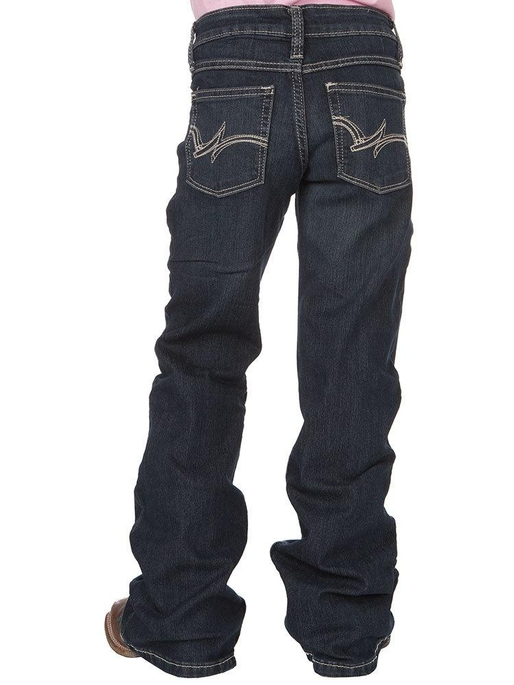 Girls Dark Wash Boot Cut Jean