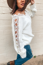 Lilah Lace Sweater Top