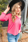 Fashionably Late Fuchsia Top