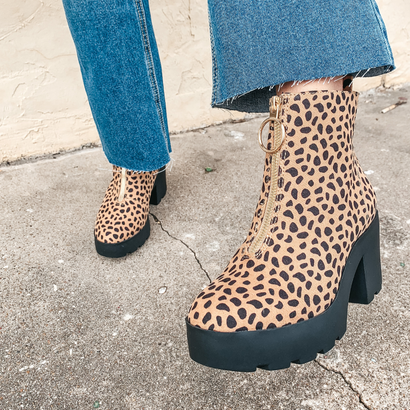 Let's Party Leopard Booties