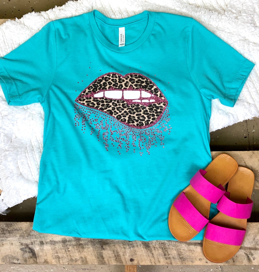 Turquoise Goal Digger Tee