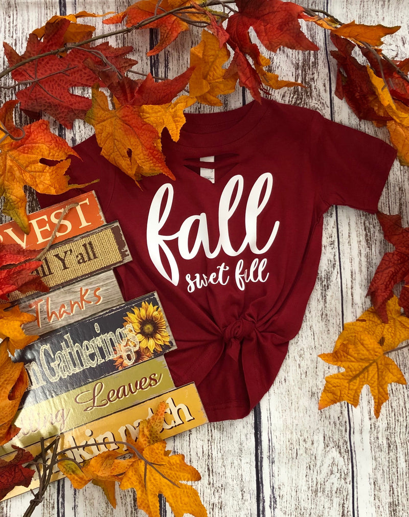 Kids Fall Sweet Fall tee