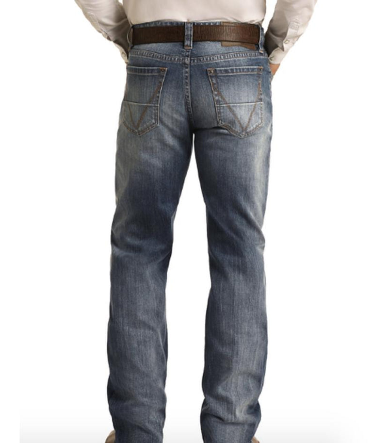 Mens Rock & Roll Vintage Relaxed Straight Jean