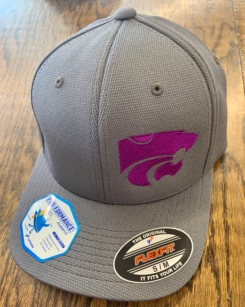 Grey Wildcats FlexFit Cap