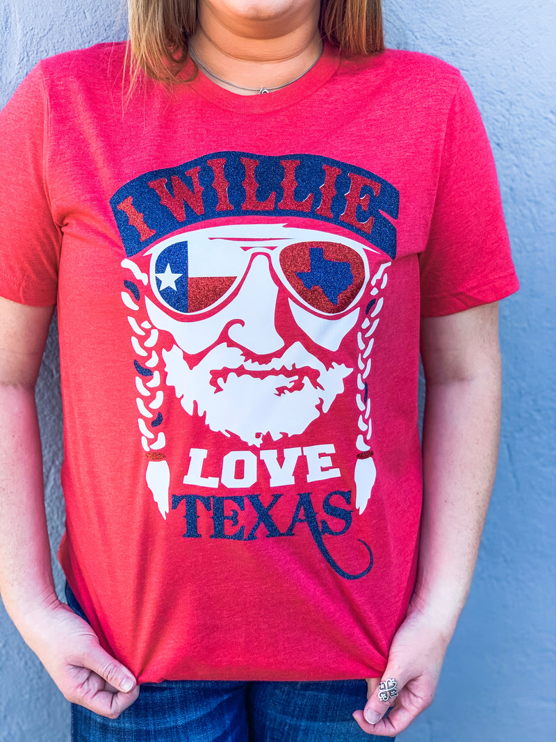 I Willie Love Texas Tee