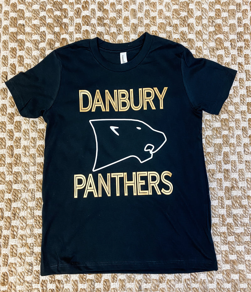 Kids Danbury Panthers Black Tee