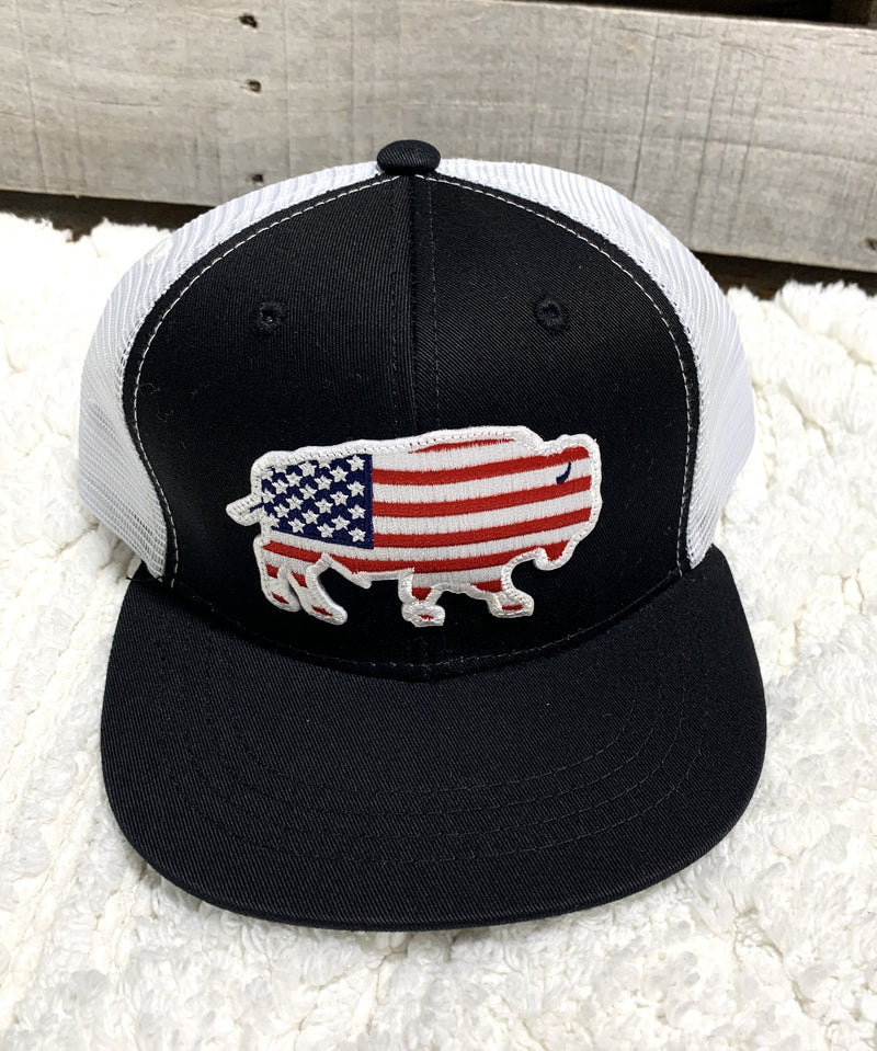 USA Buffalo Black/White Youth Cap