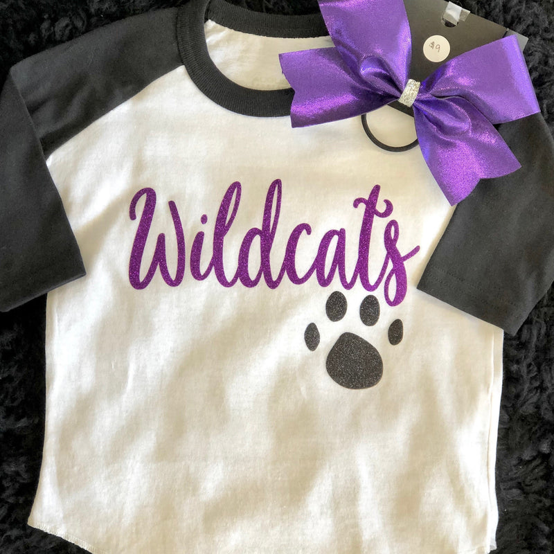 Girls Wildcat Baseball Tee