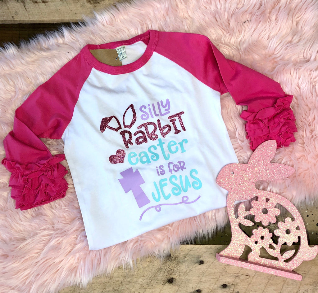 Girls Silly Rabbit Baseball Tee