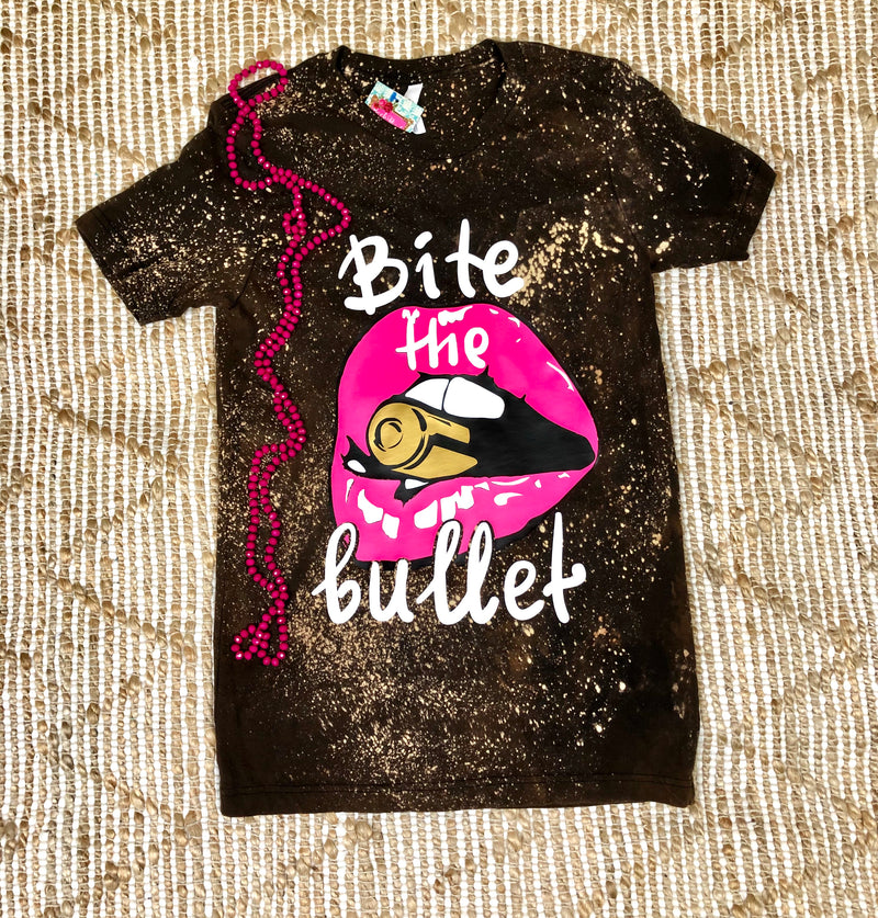 Bite The Bullet Bleached Tee
