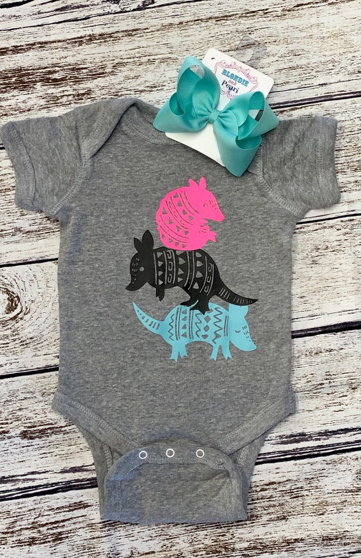 Girls Armadillo Onesie