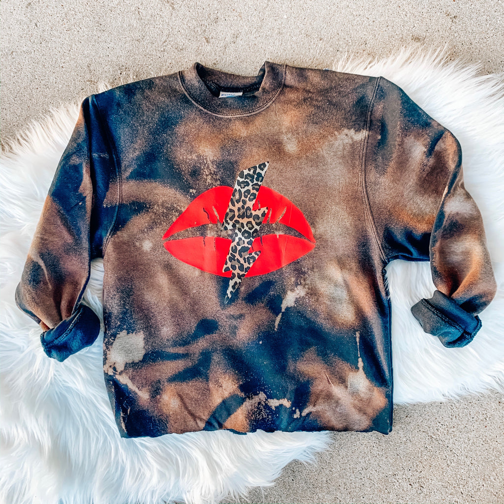 Girls Rockin' Babe Bleached Pullover