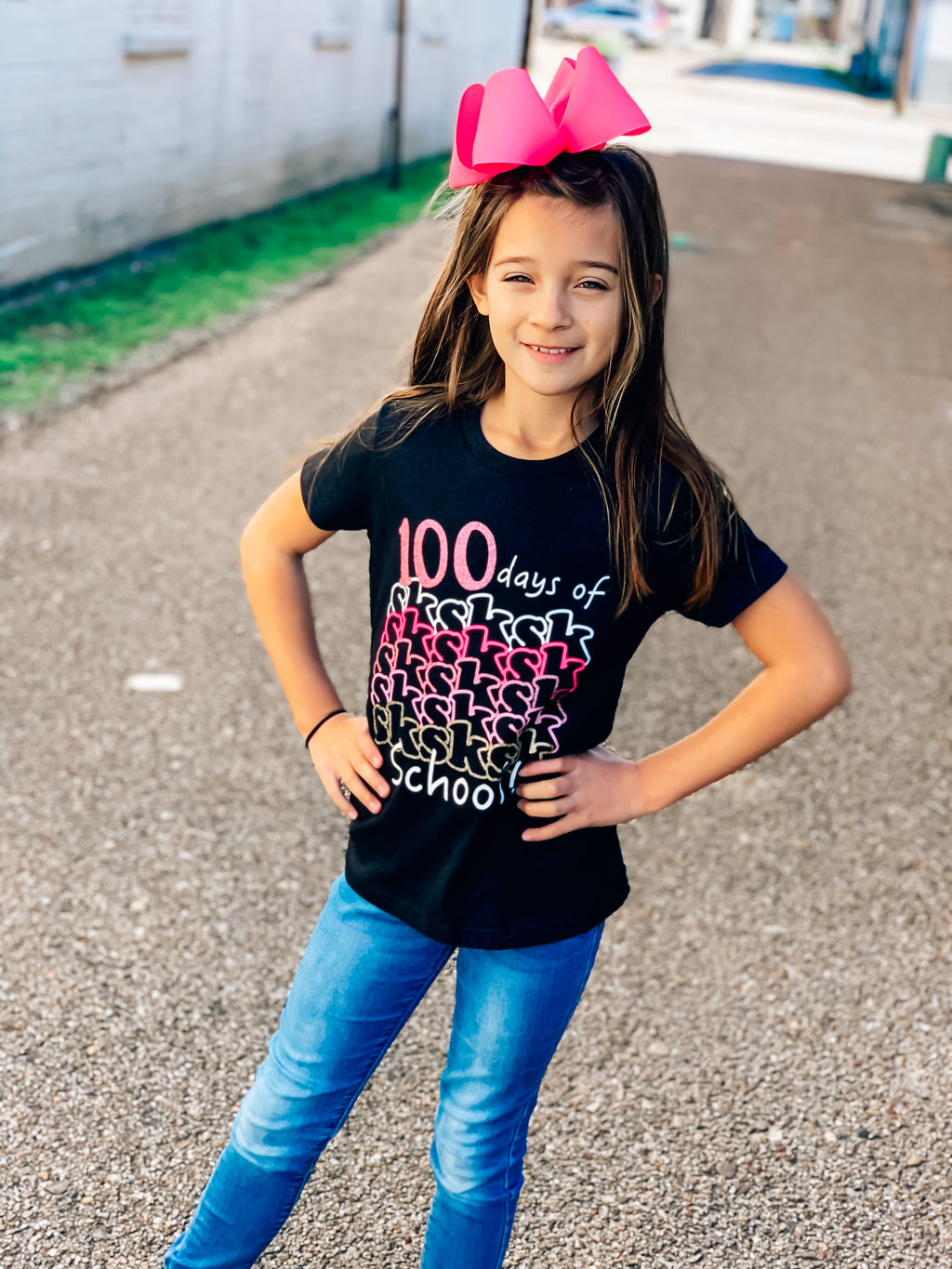 Kids 100 Days Vsco Girl Tee