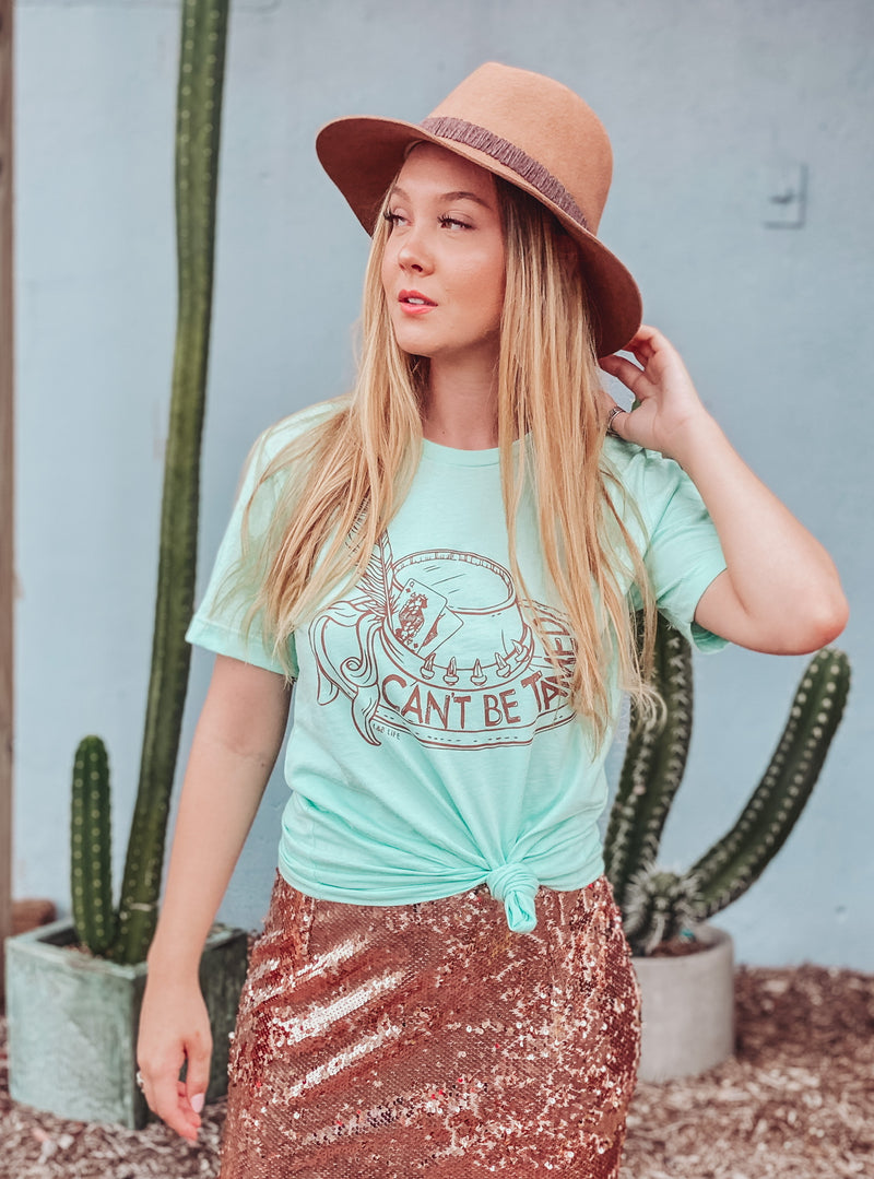 Mint Can't Be Tamed Tee
