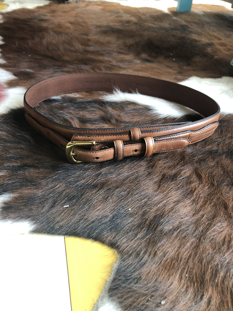 Mens Brown Western Ranger Belt