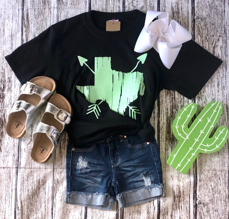 Kids Mint Texas Arrow Tee