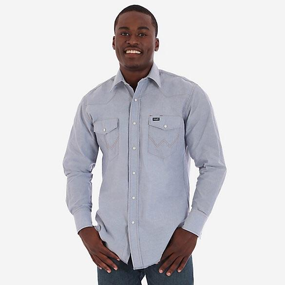 Men's Chambray L/S Denim Snap Shirt