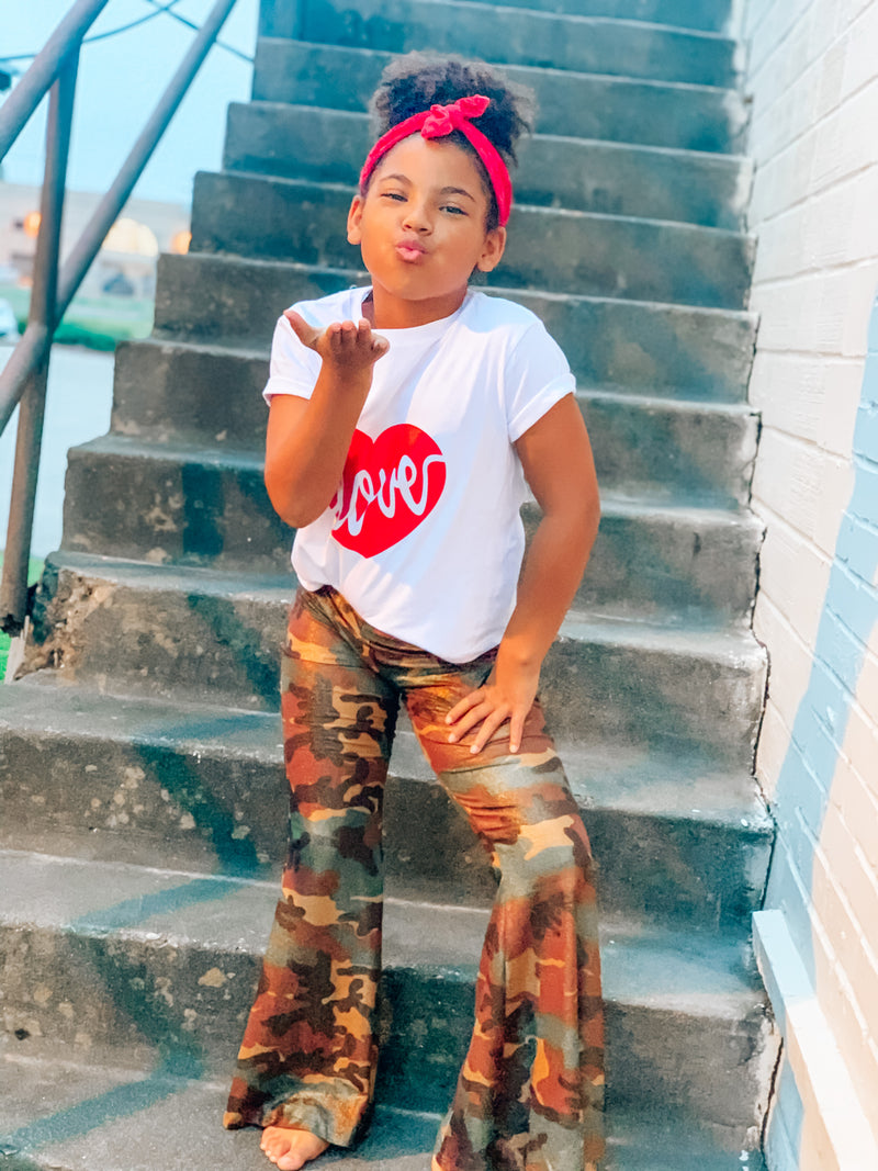 Kids Red Love Heart Tee