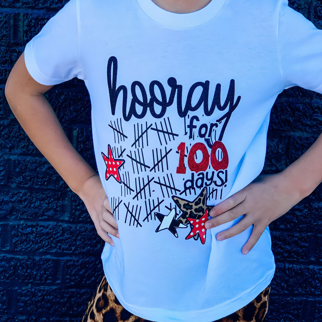 Kids Hooray for 100 days Tee