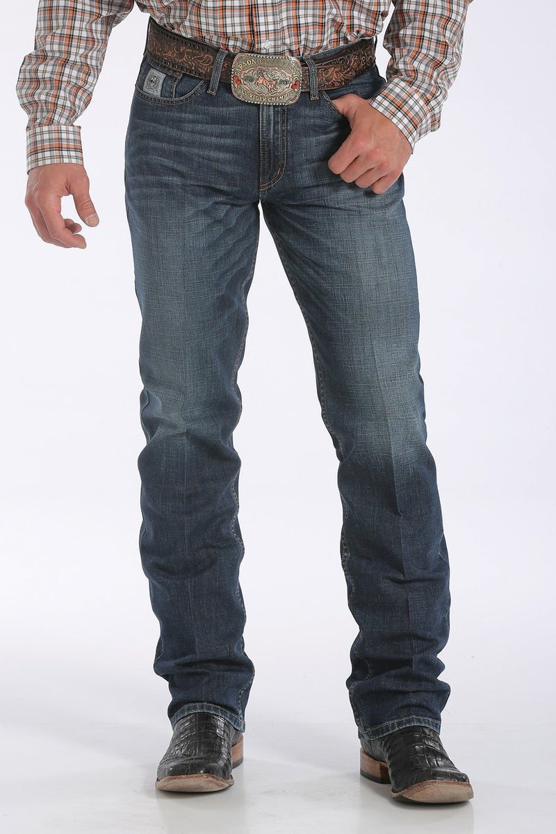 Mens Cinch White Label Relaxed Straight Leg Dark Wash Jean