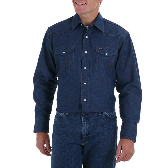 Men's Cowboy Cut Work Rigid Denim L/S Snap Shirt 70127MW