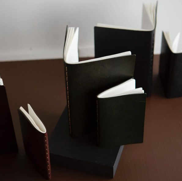 Small and medium leather notebooks