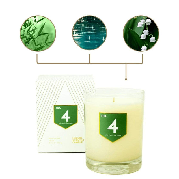ACDC Candles No. 4 Rain Water Bamboo Scented Soy Candle Kaufmann Mercantile