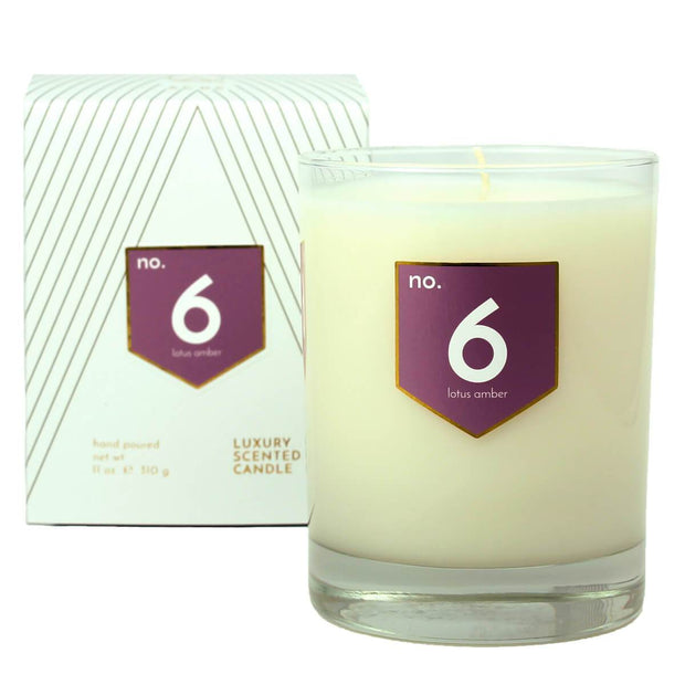 ACDC Candles No. 6 Lotus Amber Scented Soy Candle Kaufmann Mercantile