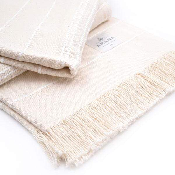 Amana Shops Cushions & Throws Natural with White Amana Weave Cotton Throw Kaufmann Mercantile